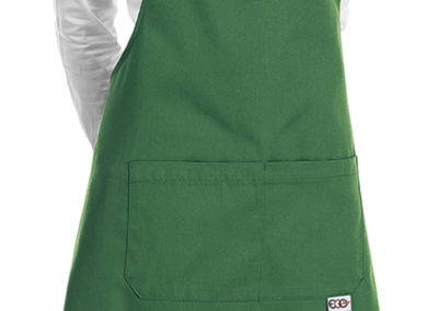 6000018C SHORT BIP APRON KELLY GREEN