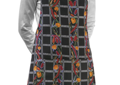 6000129A SHORT BIP APRON PEPPER