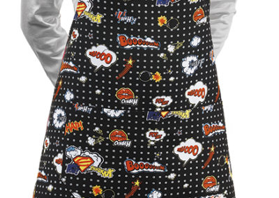 6000143A SHORT BIP APRON POP ART